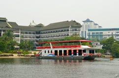 Le parc d'affaires de bord de mer de mines, Malaisie Image stock