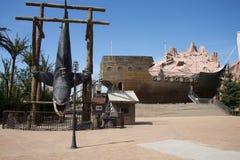 Le parc d'attractions, architecture moderne Photographie stock libre de droits