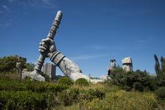 Le parc d'attractions, architecture moderne Photo stock