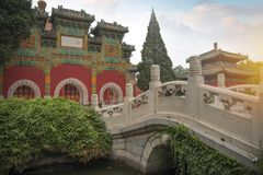 Le parc de Beihai est un jardin impérial photos stock