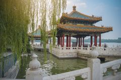 Le parc de Beihai est un jardin impérial photos libres de droits