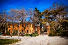 Le parc de Buen Retiro à Madrid Espagne photographie stock