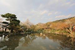 Le parc de Maruyama a localisé Yasaka voisin shring au printemps la saison Photos libres de droits