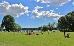 Le parc de RÃ¥lambshov Photographie stock