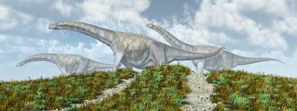 Le parc des dinosaures Photographie stock libre de droits