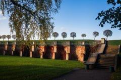 Le parc inférieur dans Peterhof Images stock