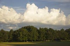 Le parc les nuages et le ciel Photographie stock libre de droits