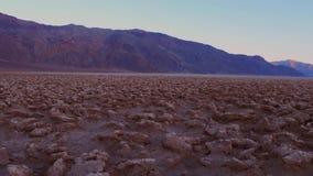 Le parc national de Death Valley étonnant - le cours d'or de diables banque de vidéos