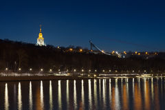 Le parc sanglant de Vorobyovy à Moscou Photo stock