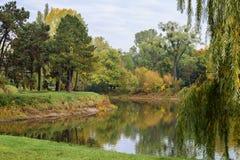 Le parc urbain de Rotehornpark Adolf-Mittag-voient Images libres de droits