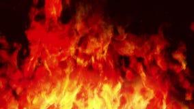 Le pare-feu 2 //1080p a stylisé la boucle visuelle de fond du feu illustration stock