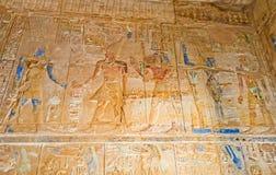 Le pareti antiche del complesso del tempio di Karnak Fotografia Stock Libera da Diritti