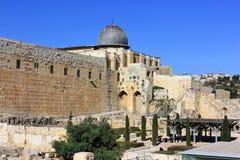 Le pareti antiche di Gerusalemme Immagine Stock