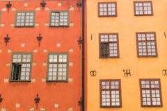 Le pareti artistiche dell'annata alloggia il fondo Fotografia Stock Libera da Diritti
