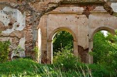 Le pareti della chiesa antica Fotografia Stock