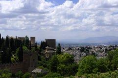 Le pareti di Alhambra. Granada Fotografia Stock Libera da Diritti
