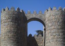 Le pareti di Avila immagini stock libere da diritti