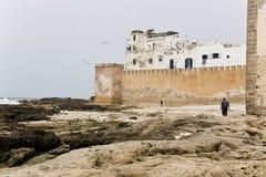 Le pareti di Essaouira Fotografie Stock Libere da Diritti