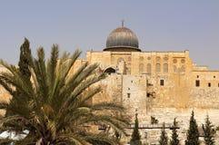 Le pareti di Gerusalemme antica Immagini Stock Libere da Diritti