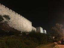 Le pareti di Gerusalemme nella città di David fotografia stock