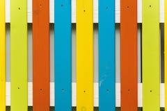 Le pareti di legno backgroun variopinto Immagini Stock Libere da Diritti