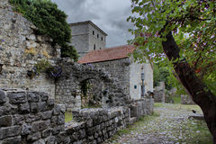 Le pareti di pietra di vecchio Antivari Fotografia Stock Libera da Diritti