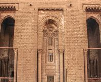 Le pareti di una moschea antica a vecchio Il Cairo, Egitto Fotografia Stock
