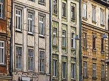 Le pareti di vecchia costruzione Immagine Stock