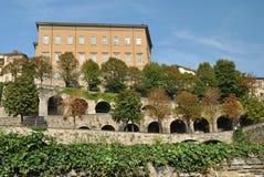 Le pareti fortificate di vecchia Bergamo Fotografie Stock Libere da Diritti
