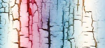 Le pareti sono dipinte in bande variopinte Immagini Stock Libere da Diritti