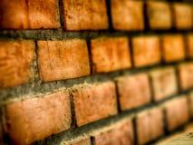 Le pareti sono fatte del mattone, per fondo, fuoco selettivo fotografia stock