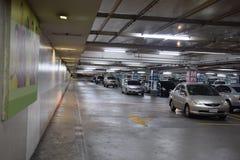 Le parking d'un magasin Photo libre de droits