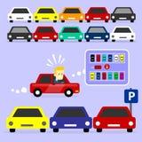 Le parking est plein Photo stock