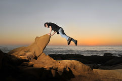 Le Parkour, Free Running, Stock Image