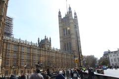 Le parlament britannique à Londres images libres de droits