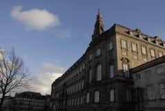 le parlement à la maison danois de palais de christiansborg Images libres de droits