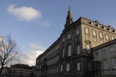 le parlement à la maison danois de palais de christiansborg Image stock