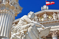 Le parlement autrichien à Vienne photo libre de droits