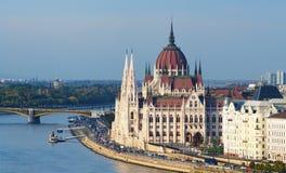 Le Parlement à Budapest Images libres de droits