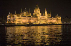 Le Parlement Budapest et Danube Photographie stock