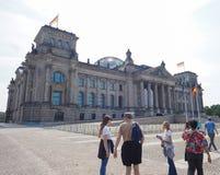 Le parlement de Bundestag à Berlin image libre de droits