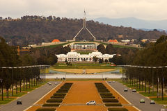 le parlement de Canberra de construction Images stock