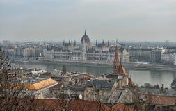 Le Parlement de la Hongrie, Budapest Photos libres de droits