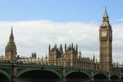 Le Parlement de Londres, grand Ben Photographie stock