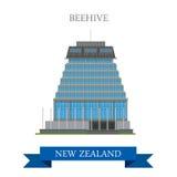 Le Parlement de ruche construisant Wellington New Zealand dirigent l'appartement illustration stock