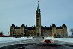 Le Parlement du Canada Photos stock
