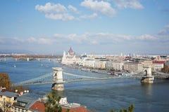 Le Parlement et Danube à Budapest photos libres de droits