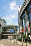 Le Parlement européen à Bruxelles Photo stock