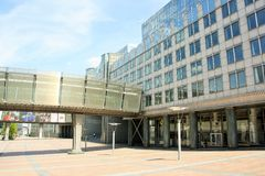 Le Parlement européen à Bruxelles Photographie stock
