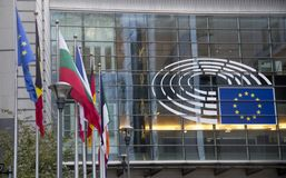 Le Parlement européen Bruxelles Images stock